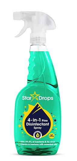 Stardrops 4 in 1 Disinfectant Spray